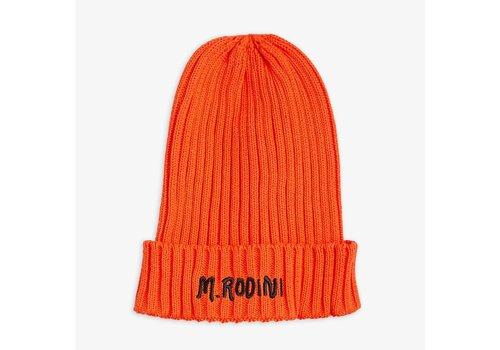 Mini Rodini Mini Rodini Fold up Rib Hat Red