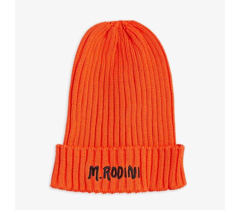 Mini Rodini Fold up Rib Hat Red