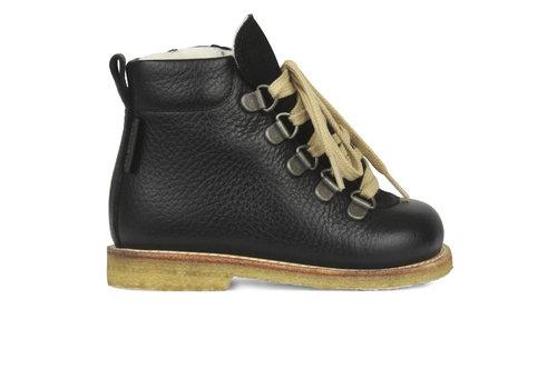 Angulus Angulus Basic Lace-up Boots with zipper Black 9205 101