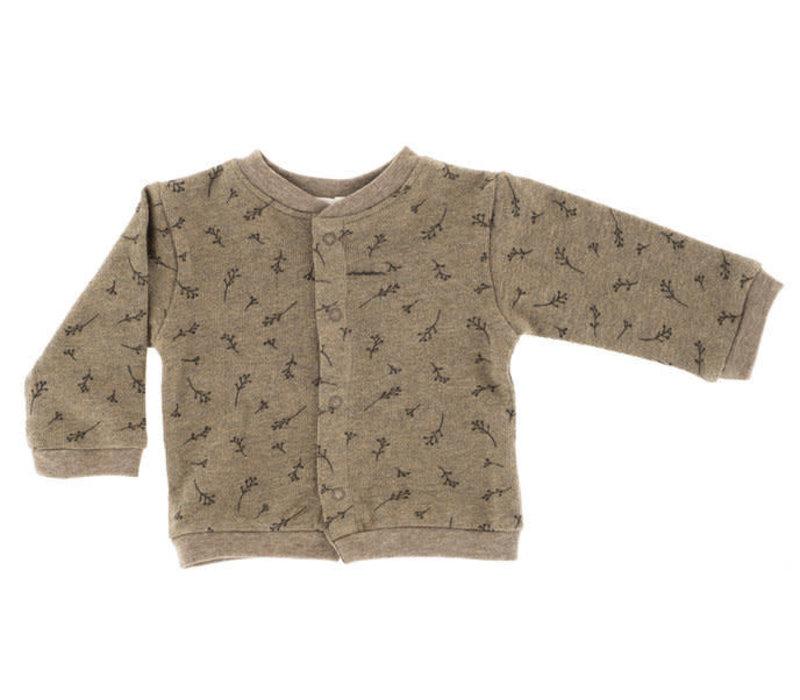 Riffle Cardigan Mesh knit taupe