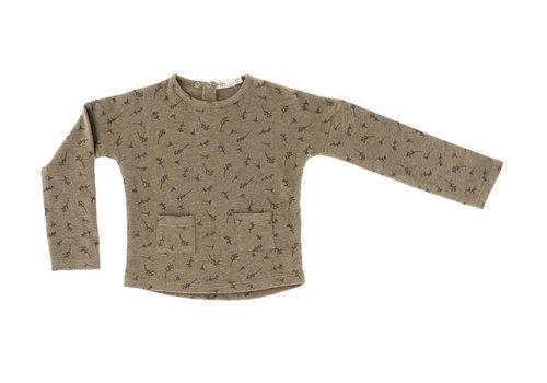 Riffle Riffle  t shirt Moon mesh knit taupe