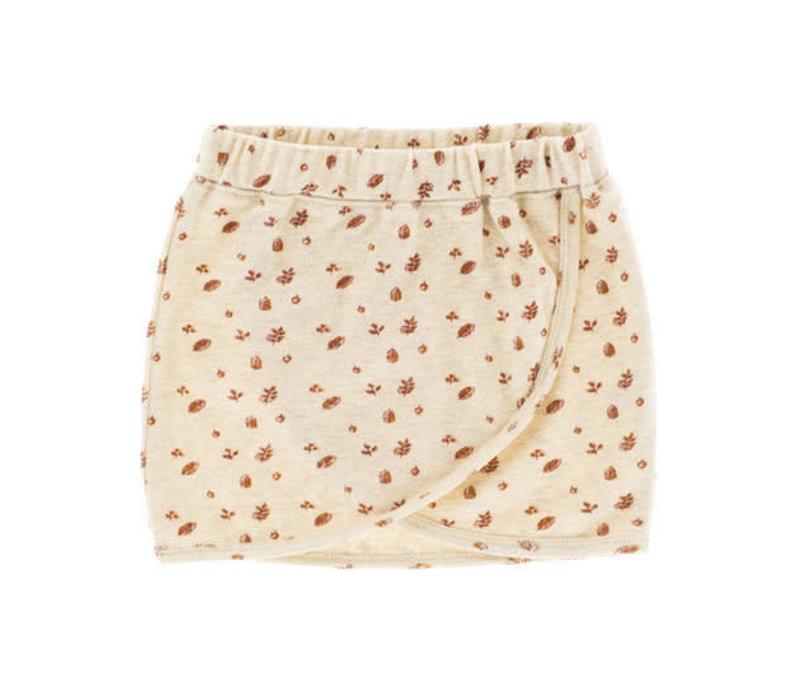 Riffle skirt ross mesh knit white