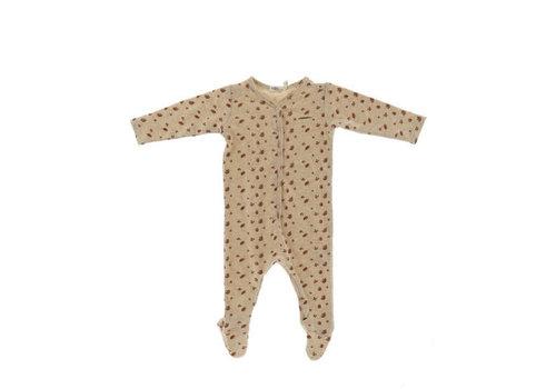 Riffle Riffle Footed suit mesh knit white
