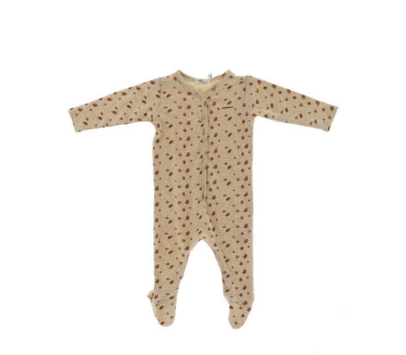 Riffle Footed suit mesh knit white