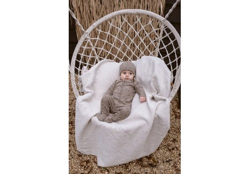 Riffle Riffle Footed suit mesh knit taupe