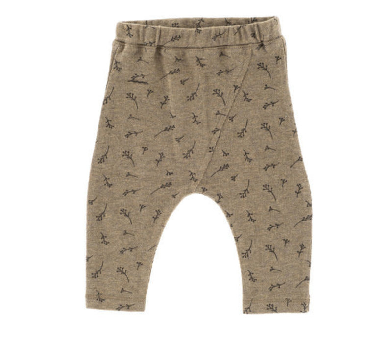 Riffle Baggy pants mesh knit taupe