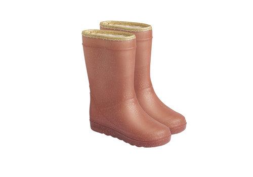 EN FANT Enfant Thermo Boots Glitter Metalic Rose