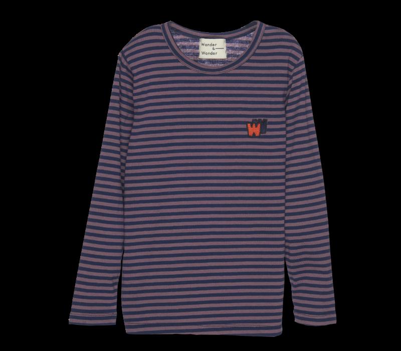 Wander & Wonder Tee Clay Stripe