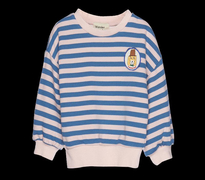 Wander & Wonder Stripe Sweatshirt Pink