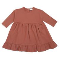 Petit Blush Ruffle Dress Marsala