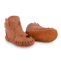 Donsje Baby Slof Kapi Classic Lining Bear Cognac Classic Leather