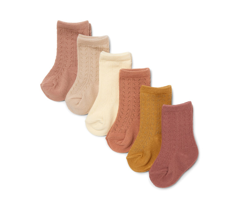 Konges Slojd 6 Pack Pointell Socks Sahara