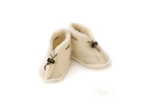Alwero Alwero Babysloffen Emo Wool Naturel