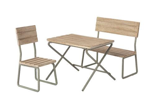 Maileg Maileg Garden set, Table w. chair and bench