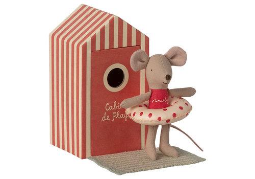 Maileg Maileg Beach mice, Little sister in Cabin de Plage