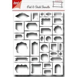 Joy!Crafts Scrap Peel&Stick Stencil - Labels
