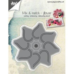 Joy!Crafts Snij-embos-debosstencil - Mix&Match - Bloem
