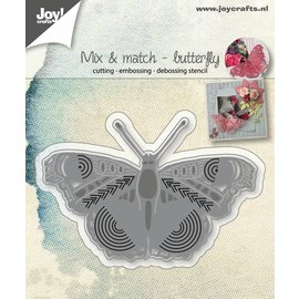 Joy!Crafts Snij-embos-debosstencil - Mix&Match - Vlinder