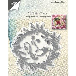 Joy!Crafts Snij-embos-debosstencil - Krans zomernatuur