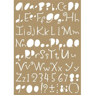 Joy!Crafts Polybesa Mask stencil - Lettering