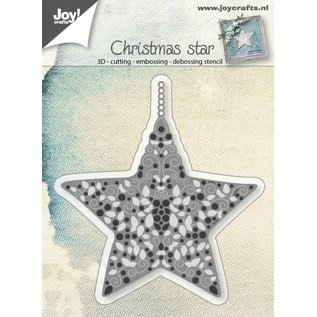 Joy!Crafts Snij-embos-debosstencil - Ster gevuld