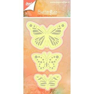 Joy!Crafts Basislijn Snij- en Embosstencil - vlinder (3st)