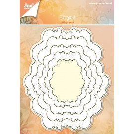 Joy!Crafts Basislijn snijstencil - Ovaal sierlijk 5 st