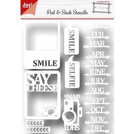 Joy!Crafts Scrap Peel & Stick stencil - Say cheese