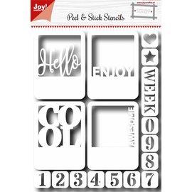 Joy!Crafts Scr@p Sticky stencil - Hello en nummers