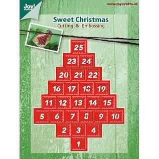 Joy!Crafts Snij-en Embosstencil advent kalender