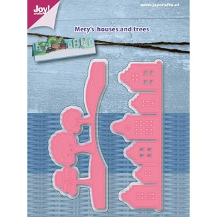 Joy!Crafts Snijstencil -Mery's  Huizen en bomen