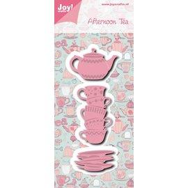 Joy!Crafts Snij-embosstencil  - Afternoon tea kopjes + theepo