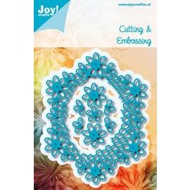 Joy!Crafts Snij-embosstencil - Ovaal met bloemen