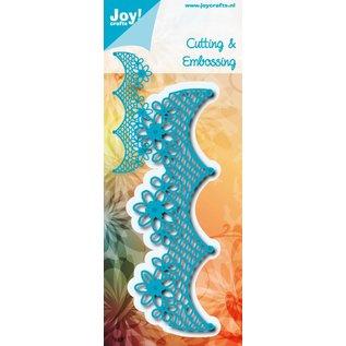 Joy!Crafts Snij-embosstencil - Netrand met bloemen