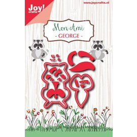 Joy!Crafts Snijstencil - Mon Ami - Wasbeer George
