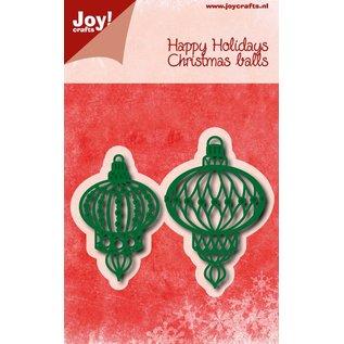 Joy!Crafts Snij-embosstencil - Kerstballen