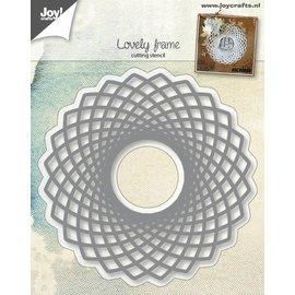 Joy!Crafts Snijstencil - Lovely Frame - Spirocirkel met ruit