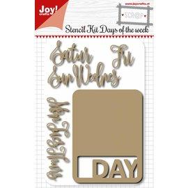 Joy!Crafts Scr@p Snij stencil - weekkaarten