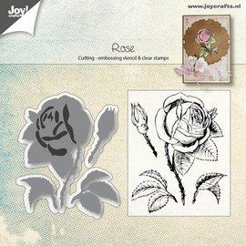 Joy!Crafts Snij-embosstencil & Stempel - Roos