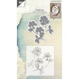 Joy!Crafts Snijstencil + Stempel - Boterbloem