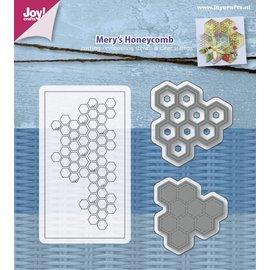 Joy!Crafts Snij-embosstencil & Stempel - Mery's Honingraat