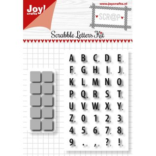 Joy!Crafts Scrap Snijstencil en Stempel - Scrabble