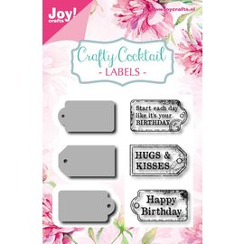 Joy!Crafts Snijstencil en stempel - Crafty Cocktail - Labels