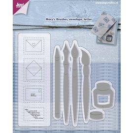 Joy!Crafts Snij-embosstencil + stempel Penselen/enveloppen