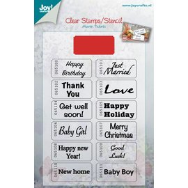 Joy!Crafts Set stencil (48x22mm) + stempels (105x172 mm)