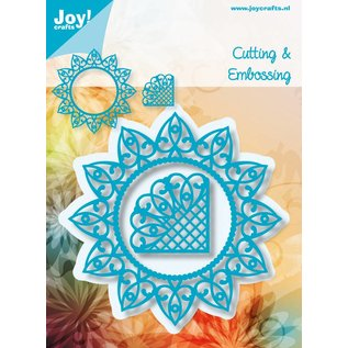 Joy!Crafts Snij-embosstencil - Cirkel en hoek Flash