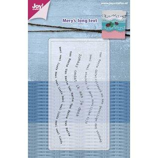 Joy!Crafts Clearstempel - Mery's - Golf tekst NL
