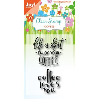 Joy!Crafts Clearstempel - Coffee txt - Enjoy