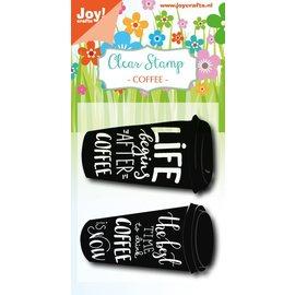 Joy!Crafts Clearstempel - Coffeecup txt