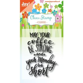 Joy!Crafts Clearstempel - Coffee txt - Monday